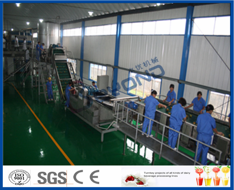 65 - 72 Brix Machine Fruit Juice Apple Processing Line With Self CIP System